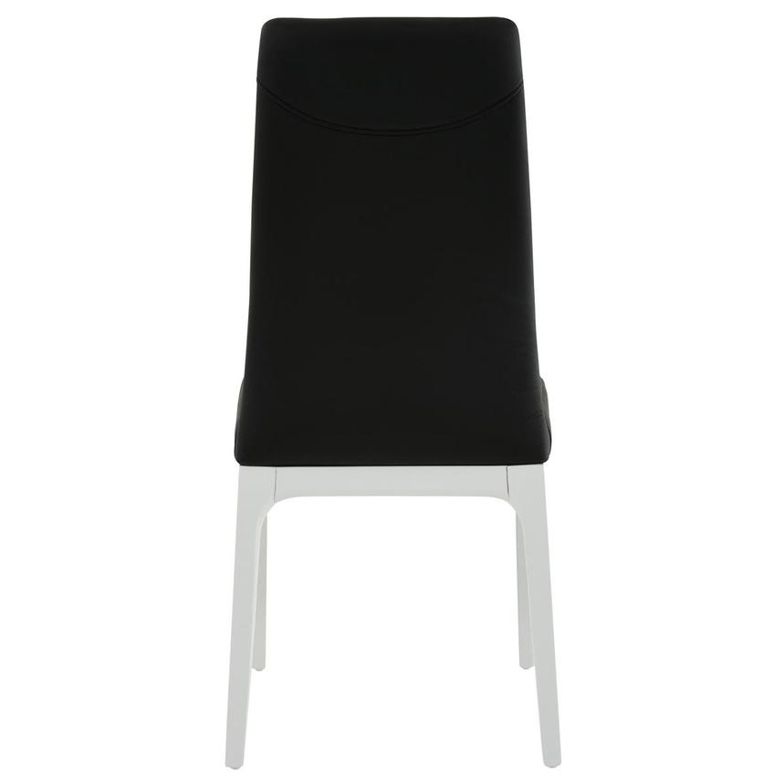 Valencia White/Black Leather Side Chair  alternate image, 4 of 6 images.