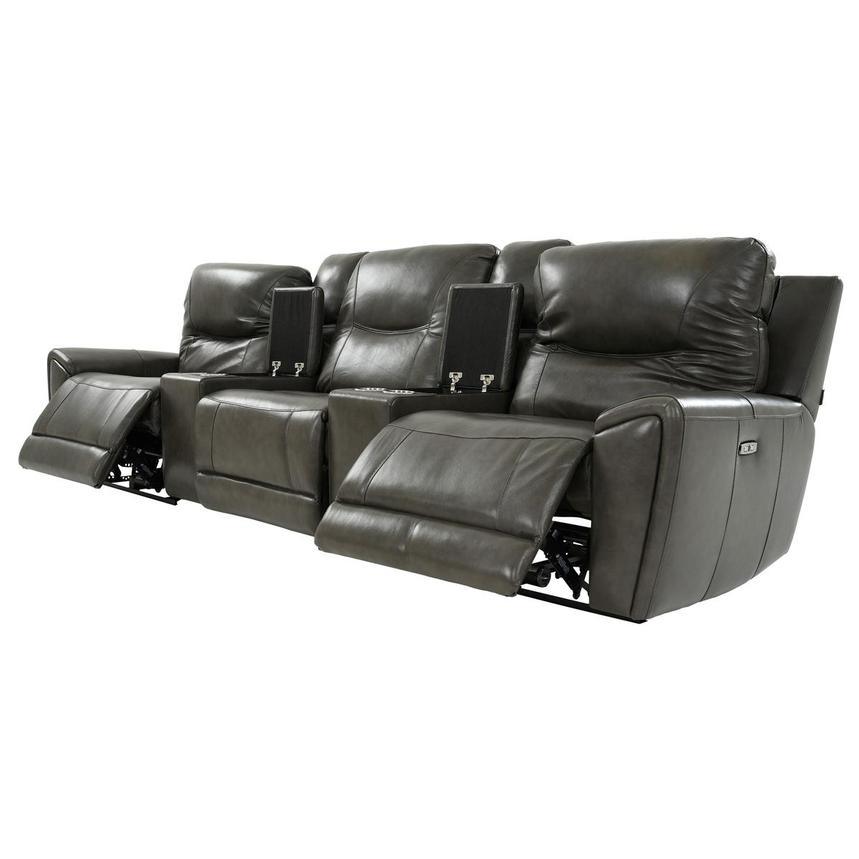 London Home Theater Leather Seating  alternate image, 3 of 11 images.