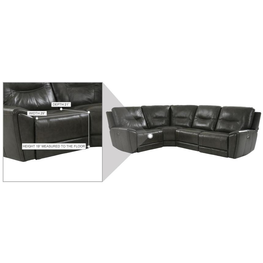 London Leather Power Reclining Sectional  alternate image, 9 of 9 images.