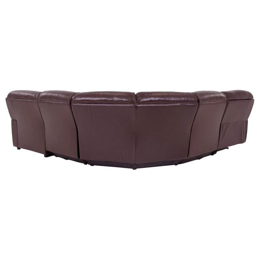 Napa Burgundy Leather Power Reclining Sectional w/Right Chaise  alternate image, 4 of 8 images.
