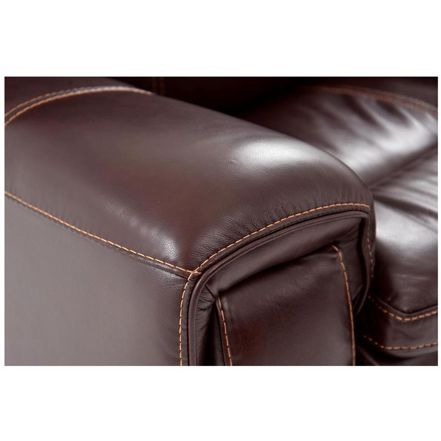 Napa Burgundy Leather Power Reclining Sectional w/Right Chaise  alternate image, 5 of 9 images.
