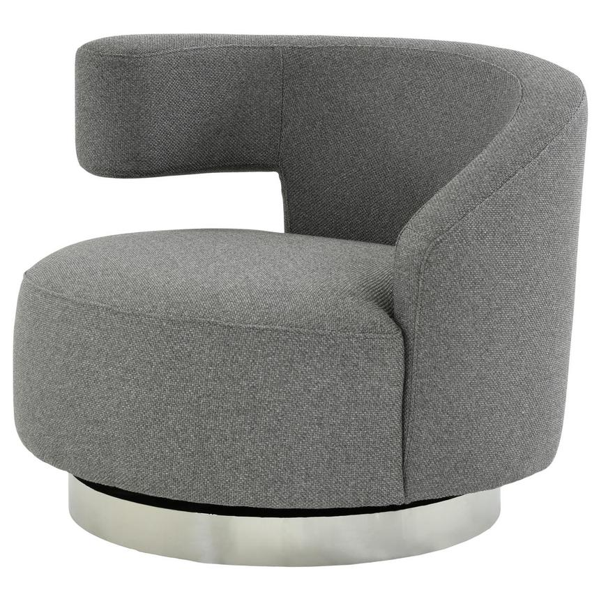 Okru Dark Gray Swivel Chair  alternate image, 2 of 7 images.