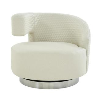 Okru II Cream Swivel Chair