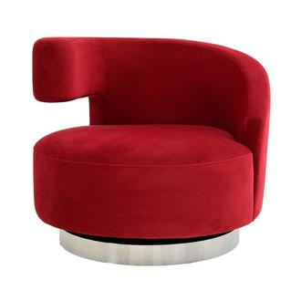 Okru II Red Swivel Chair