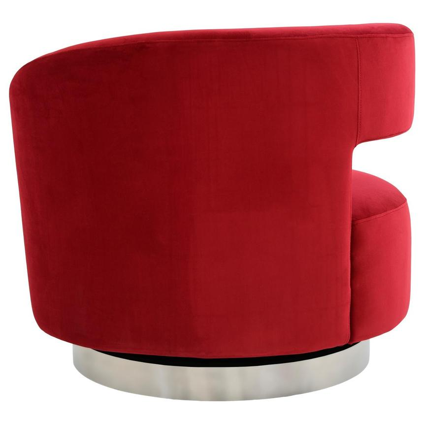 Okru Red Swivel Chair  alternate image, 4 of 7 images.