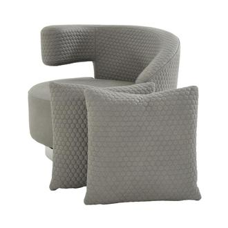 Okru II Light Gray Swivel Chair w/2 Pillows