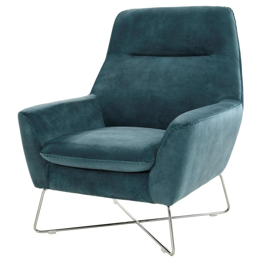 Grigio Turquoise Accent Chair  alternate image, 2 of 7 images.