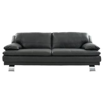 Rio Dark Gray Leather Sofa