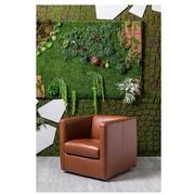 Cute Brown Leather Swivel Chair  alternate image, 2 of 8 images.