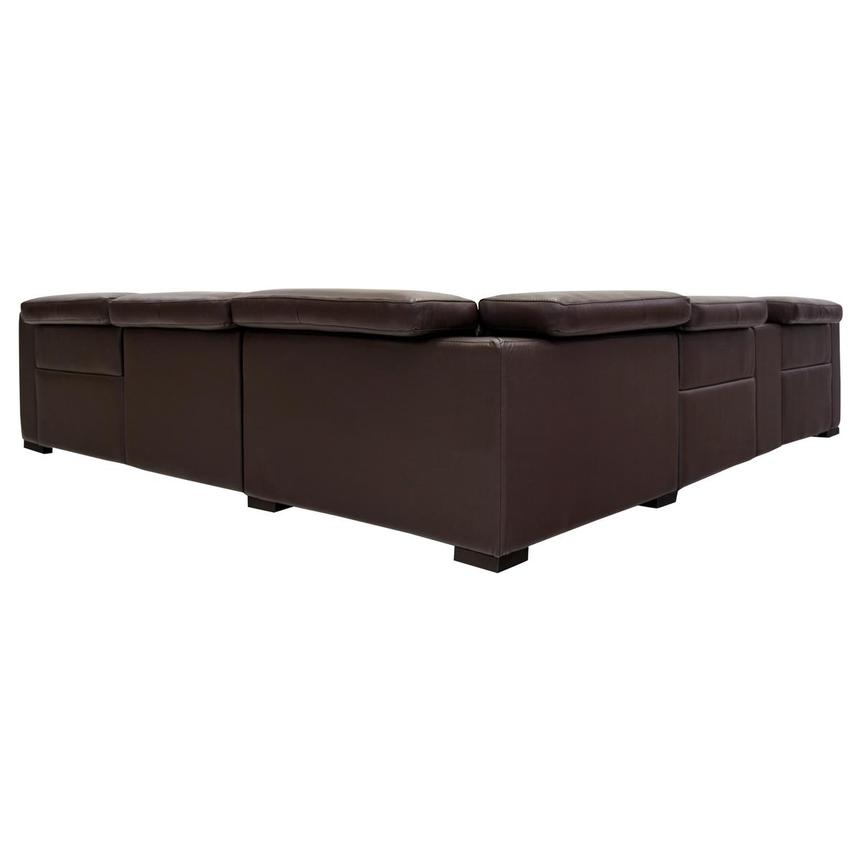Gian Marco Dark Brown Leather Power Reclining Sectional  alternate image, 4 of 9 images.