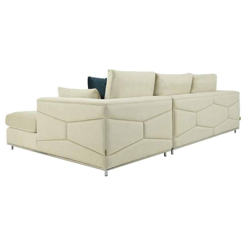 Grigio Cream Sectional Sofa w/Right Chaise  alternate image, 4 of 9 images.