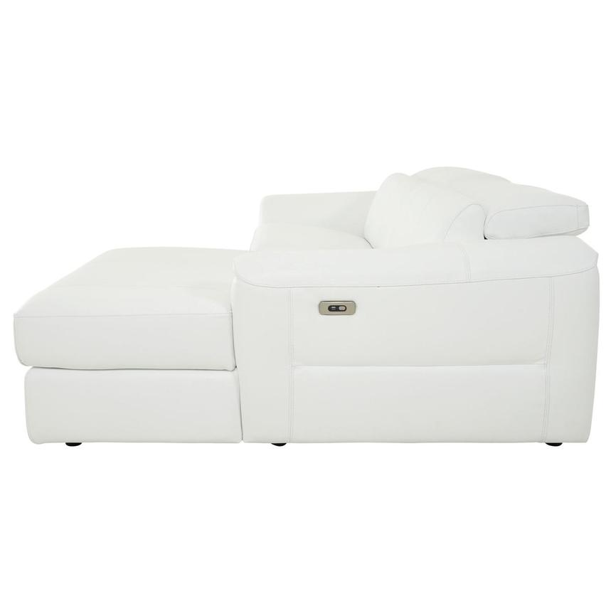 Sofextra White Leather Power Reclining Sofa w/Right Chaise  alternate image, 5 of 16 images.