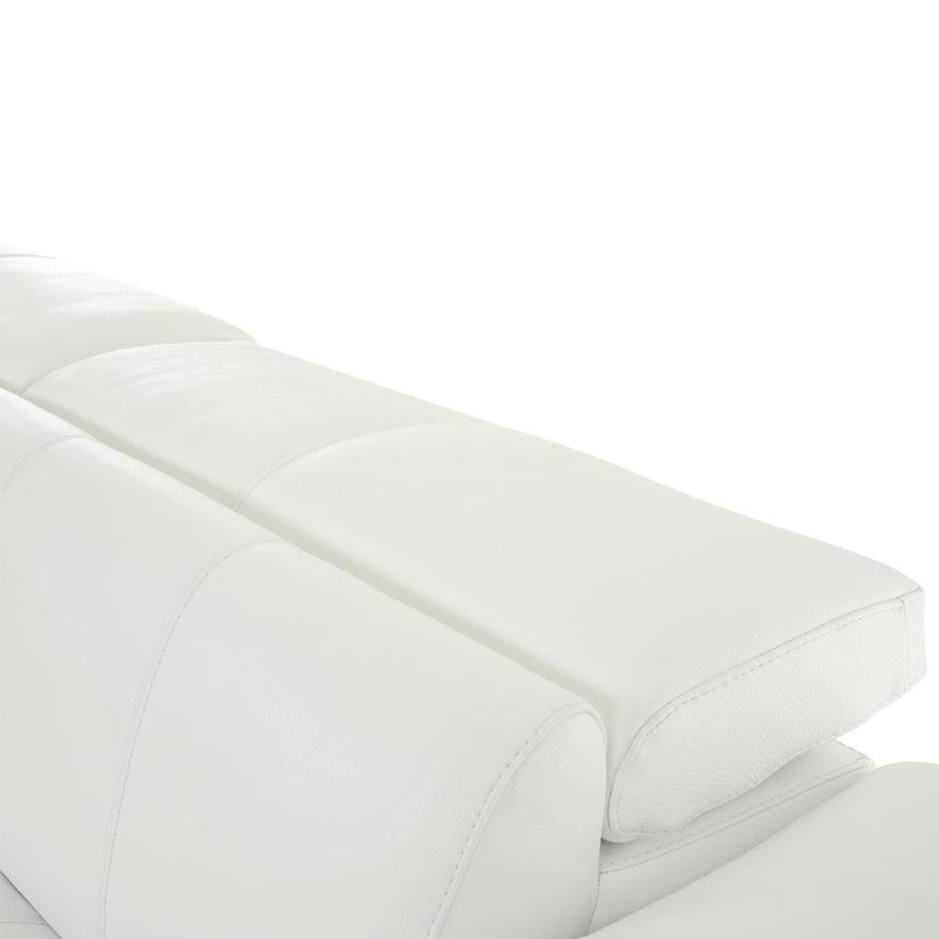 Sofextra White Leather Power Reclining Sofa w/Right Chaise  alternate image, 10 of 16 images.