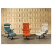 Enzo Pure White Leather Swivel Chair  alternate image, 2 of 12 images.