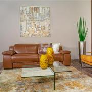 Gian Marco Tan Leather Power Reclining Sofa  alternate image, 2 of 10 images.