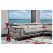 Richardson Leather Power Reclining Sofa w/Left Chaise  alternate image, 3 of 10 images.