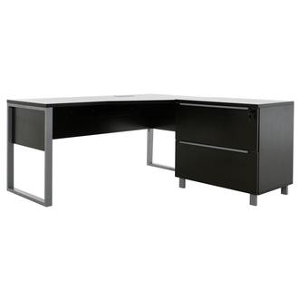 Flavia Brown L-Shaped Desk