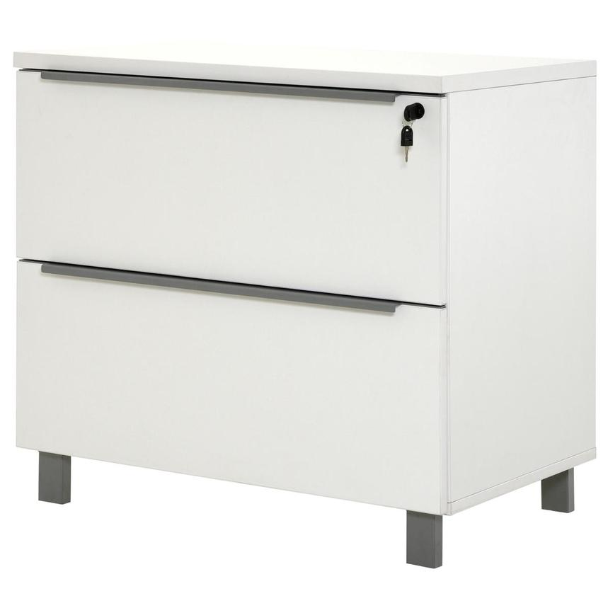 Flavia White Lateral File Cabinet  alternate image, 4 of 10 images.