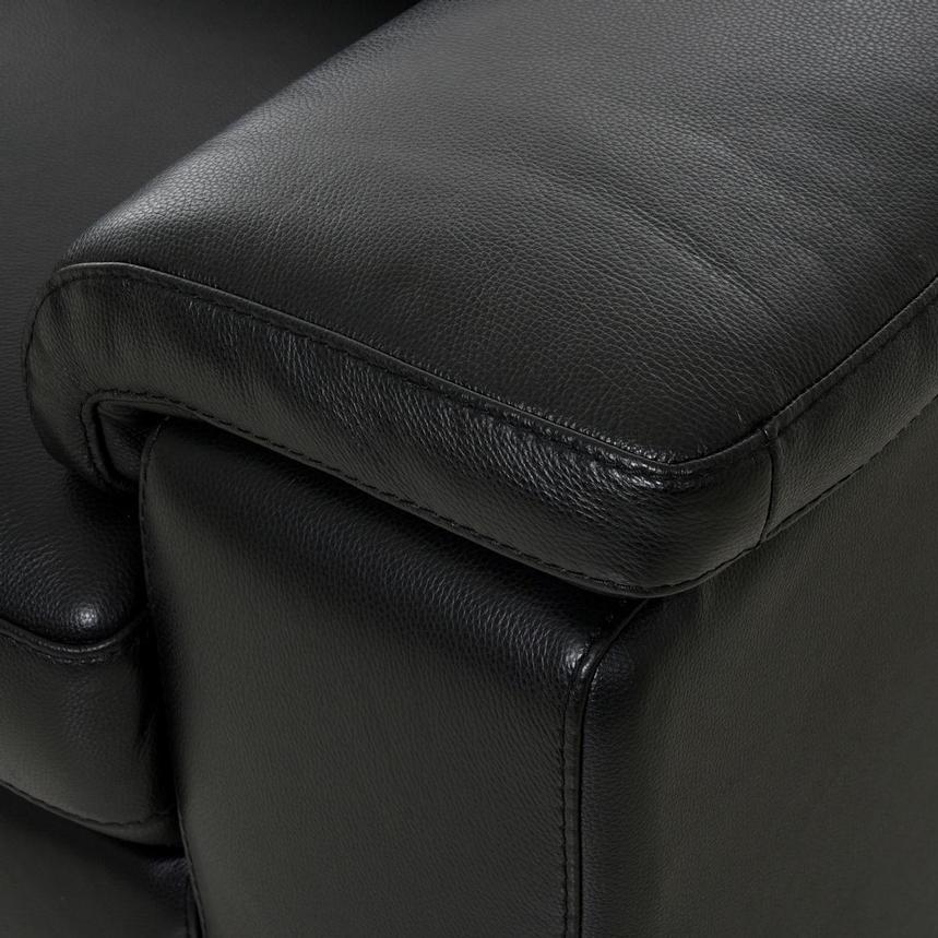 Charlie Black Leather Chair  alternate image, 8 of 10 images.