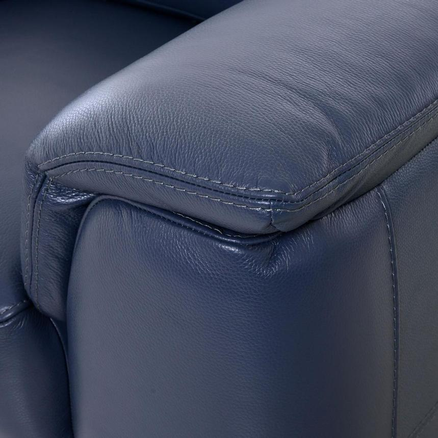 Anabel Blue Leather Loveseat  alternate image, 8 of 10 images.