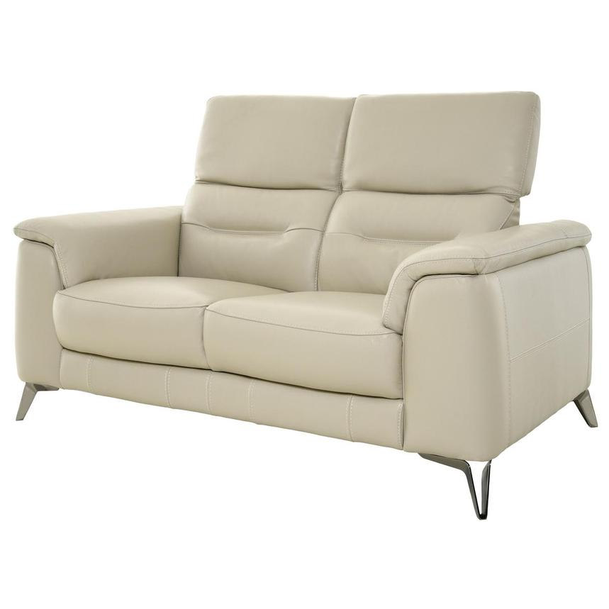 Anabel Cream Leather Loveseat  alternate image, 3 of 11 images.