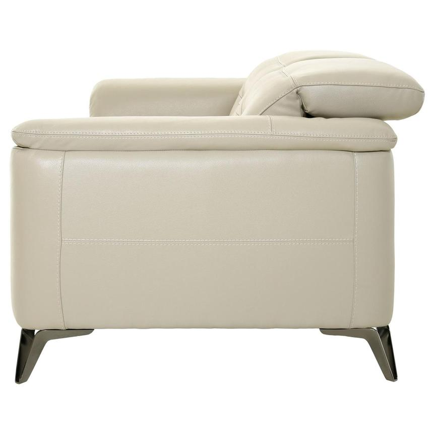 Anabel Cream Leather Loveseat  alternate image, 4 of 11 images.