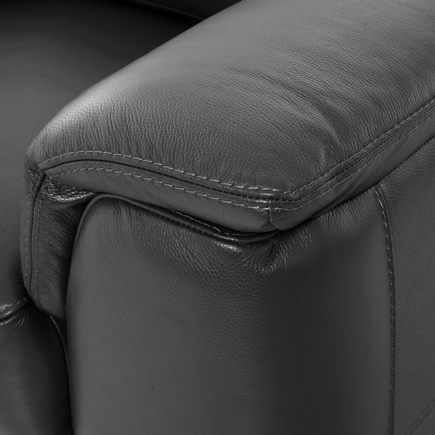 Anabel Gray Leather Loveseat  alternate image, 8 of 10 images.