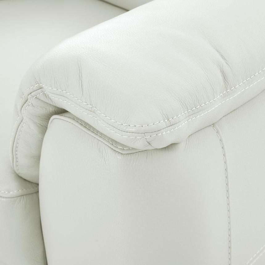 Anabel White Leather Loveseat  alternate image, 8 of 10 images.