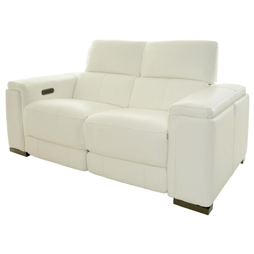 Charlette Leather Power Reclining Loveseat  alternate image, 2 of 12 images.