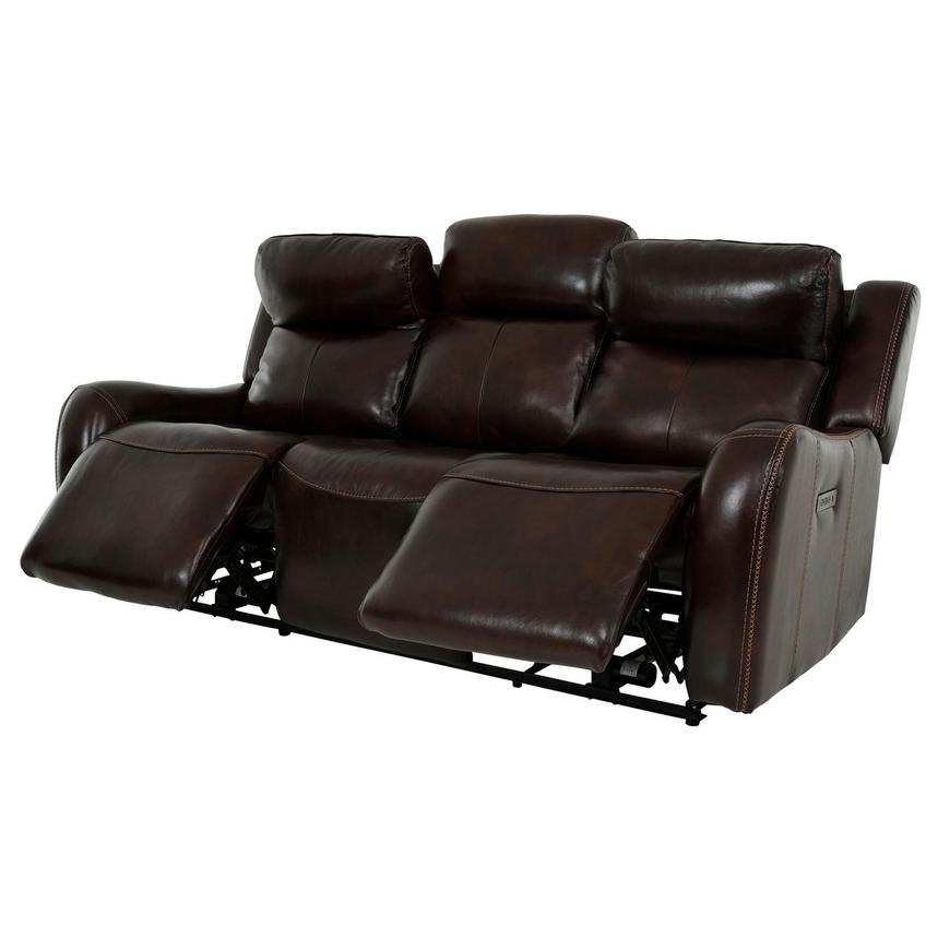 Jake Brown Leather Power Reclining Sofa  alternate image, 4 of 14 images.