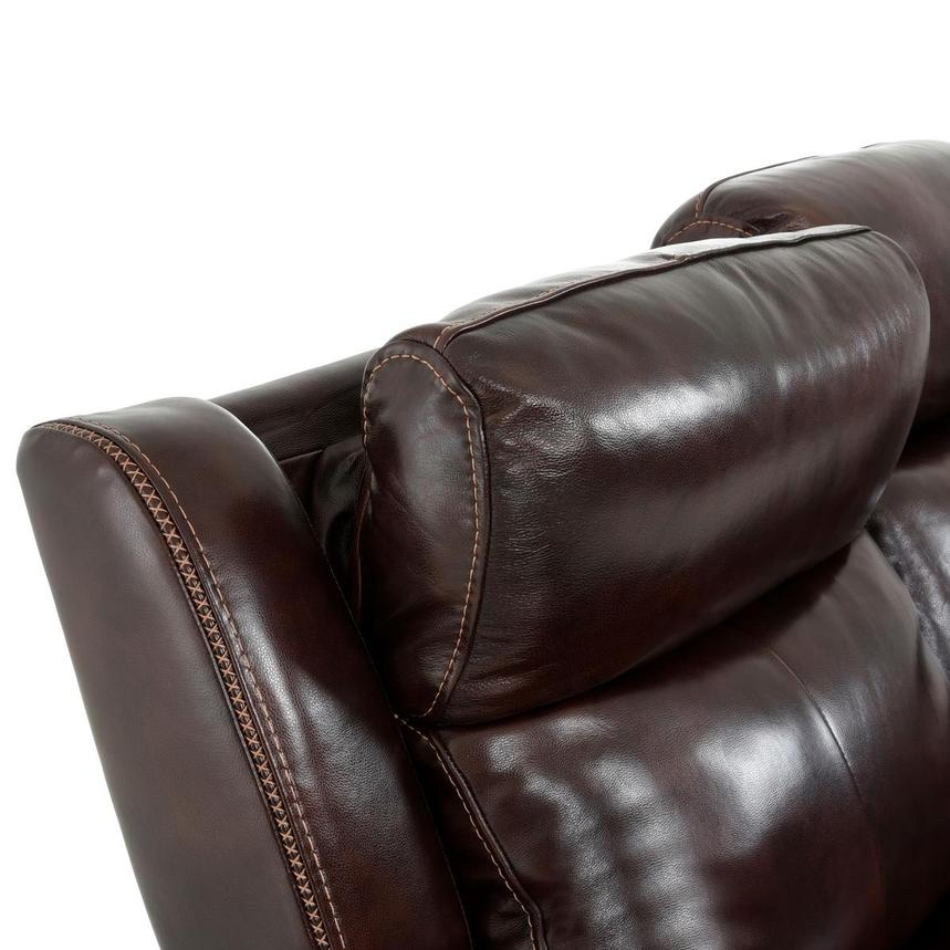 Jake Brown Leather Power Reclining Sofa  alternate image, 9 of 14 images.