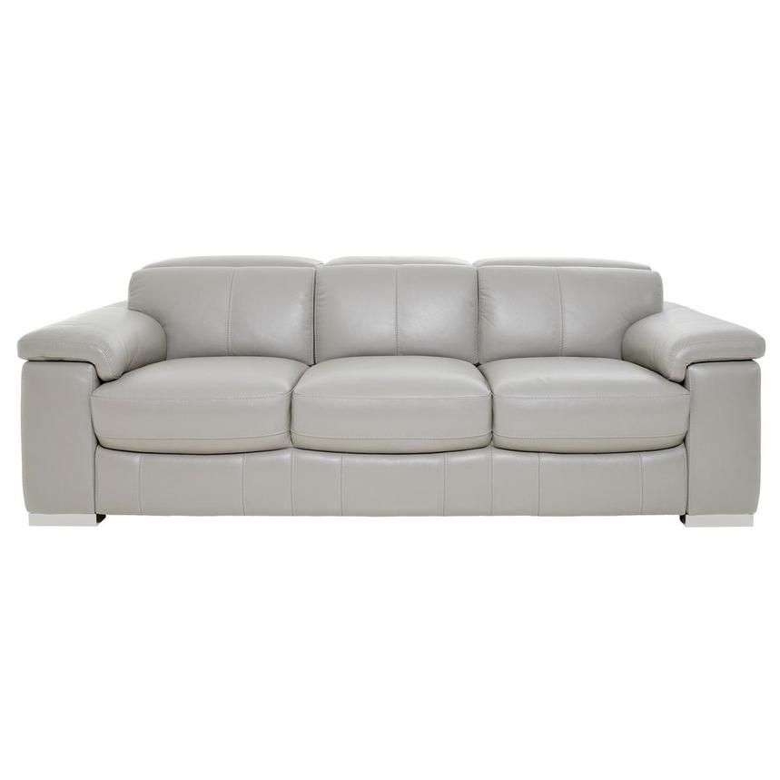 Charlie Light Gray Leather Sofa El, Gray Leather Furniture