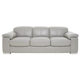 Charlie Light Gray Leather Sofa