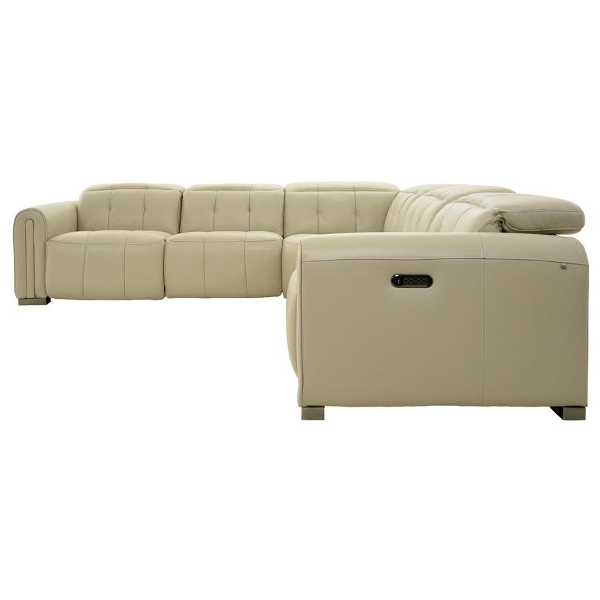 Dolomite Leather Power Reclining Sectional  alternate image, 3 of 11 images.