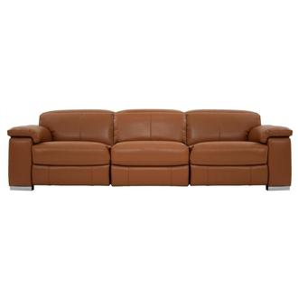 Charlie Tan Oversized Leather Sofa