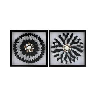 Piuma Nera Set of 2 Wall Decor