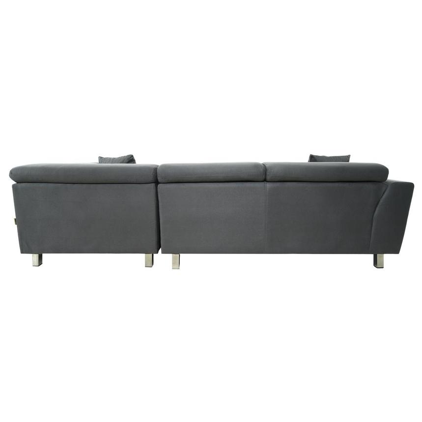 Ilias Gray Corner Sofa w/Right Chaise  alternate image, 5 of 10 images.