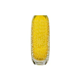 Sparks Yellow Glass Vase