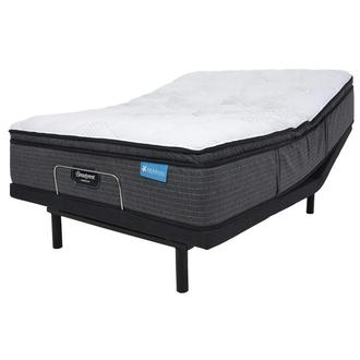 Harmony Cayman-Med Soft King Mattress w/Essentials IV Powered Base by Serta
