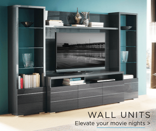 Wall units. Elevate your movie night.