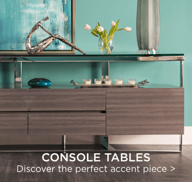 Console tables. Discover the perfect accent piece.